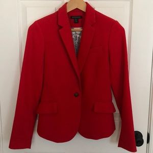 Red blazer with beautiful paisley lining XS